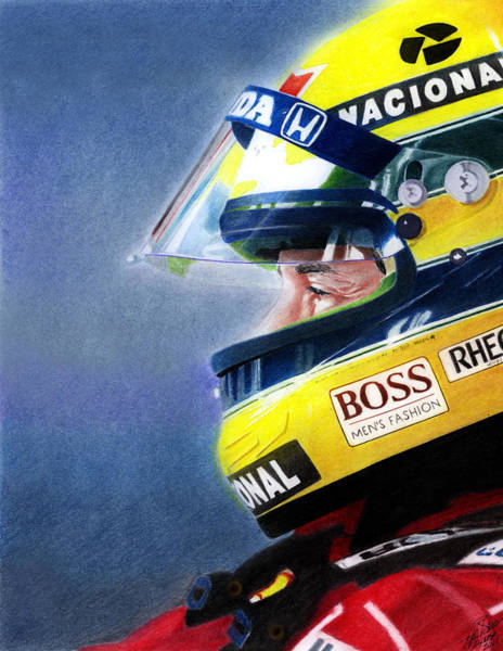 Car Mixed Media - The Focus Of Ayrton by Lyle Brown