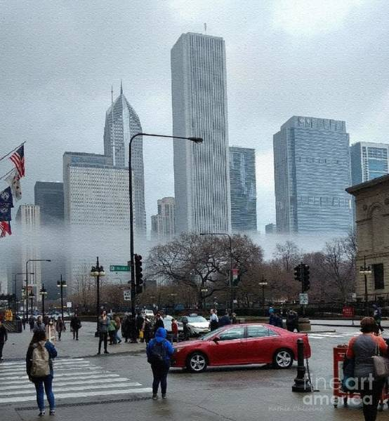 Photograph - The Fog Lifts On Michigan Avenue by Kathie Chicoine