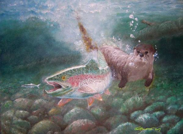 Food Chain Painting - The Food Chain by Joseph Bucemi