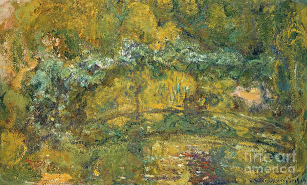 Wall Art - Painting - The Footbridge Over The Waterlily Pond, 1919 by Claude Monet