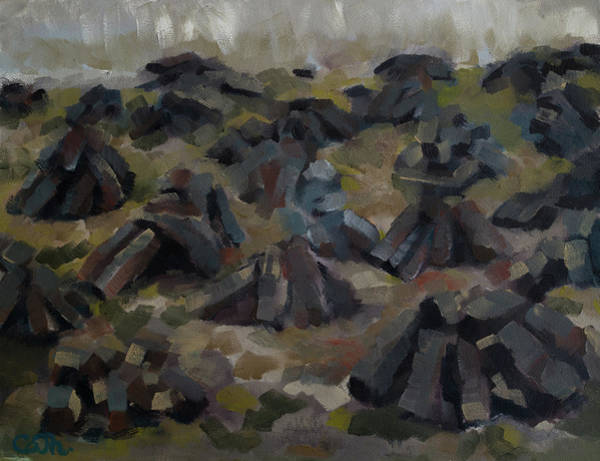 Painting - The Footed Turf On The Oghillie Mass Rock Walk by Catherine Considine
