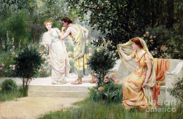 Forbidden Wall Art - Painting - The Forbidden Kiss by Francis Coates Jones