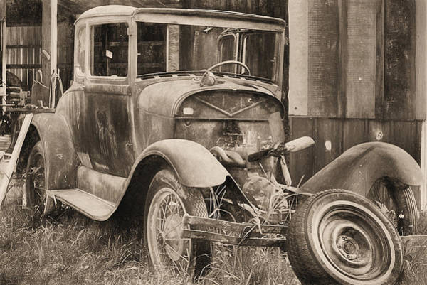 Photograph - The Ford Model A In Black And White by JC Findley