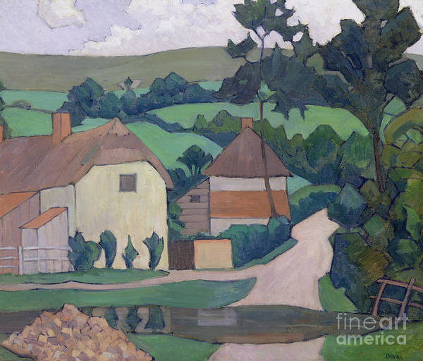 Wall Art - Painting - The Ford  by Robert Polhill Bevan