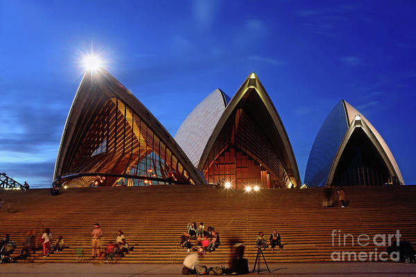 Wall Art - Photograph - The Forecourt Sydney Opera House By Kaye Menner by Kaye Menner
