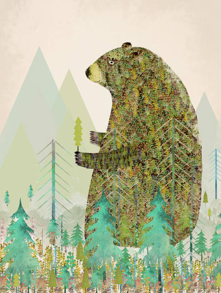 Wall Art - Painting - The Forest Keeper by Bri Buckley