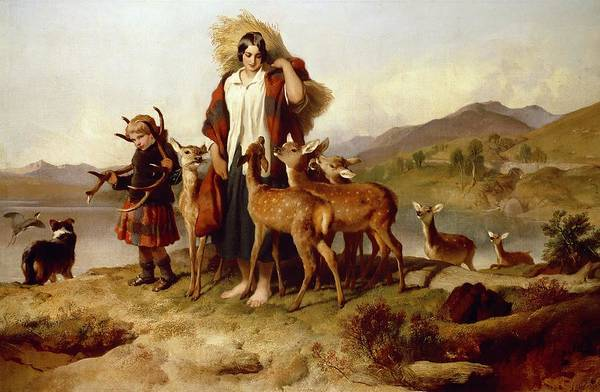 Barley Painting - The Forester's Family by Sir Edwin Landseer