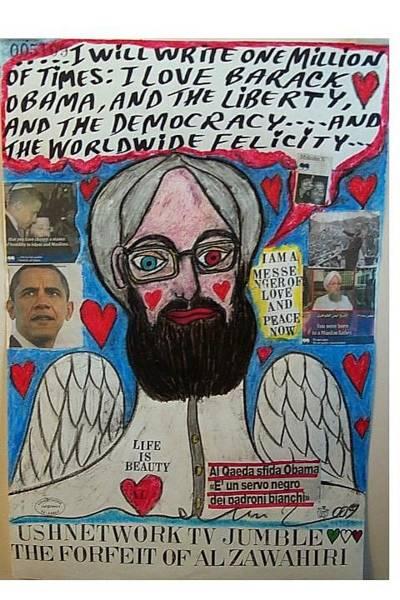 Wall Art - Mixed Media - The Forfeit Of Al Zawahiri by Francesco Martin