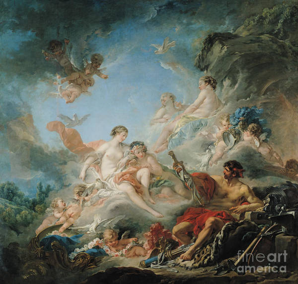 Forge Wall Art - Painting - The Forge Of Vulcan by Francois Boucher
