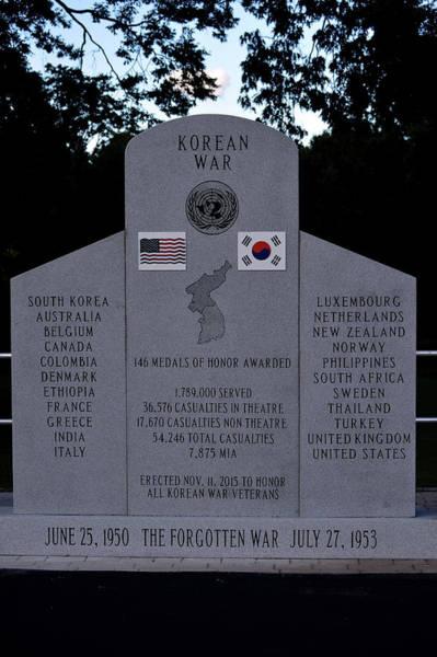 Photograph - The Forgotten War Monument Korean War by Lesa Fine