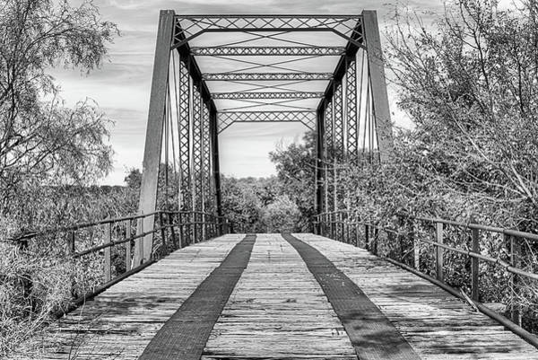 Wall Art - Photograph - The Fort Griffin Bridge In Black And White by JC Findley