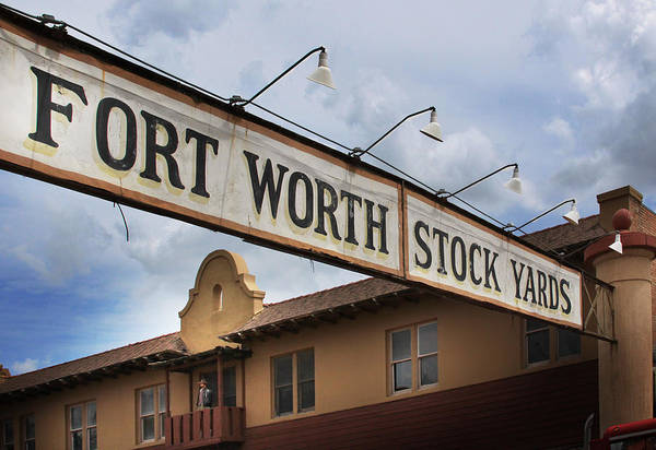 Fort Worth Photograph - The Fort Worth Stock Yards by David and Carol Kelly