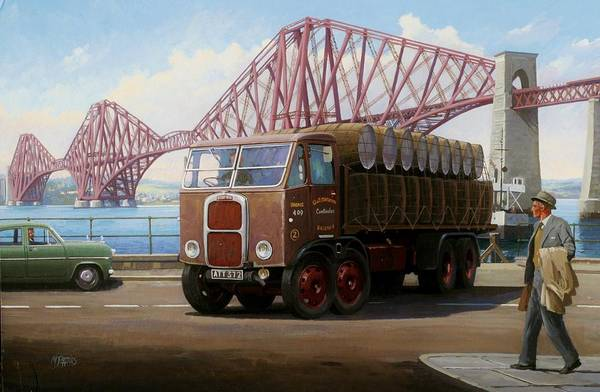Umber Painting - The Forth Bridge by Mike Jeffries