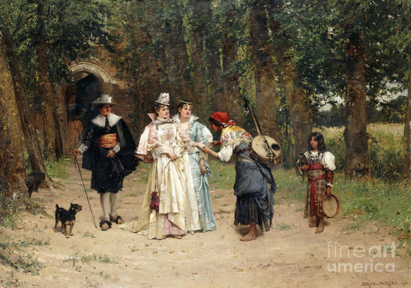 Wall Art - Painting - The Fortune Teller, 1878 by Adrien Moreau