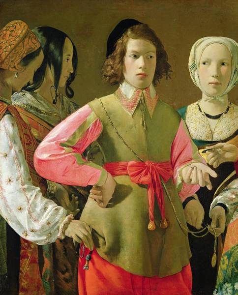 Wall Art - Painting - The Fortune Teller by Georges de la Tour