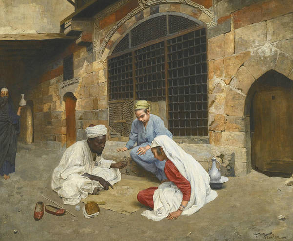 Painting - The Fortune Teller Of Cairo by Franz Xaver Kosler