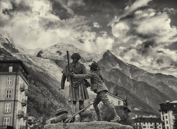 Montain Photograph - the Founder of Alpinism by Baptiste De Izarra