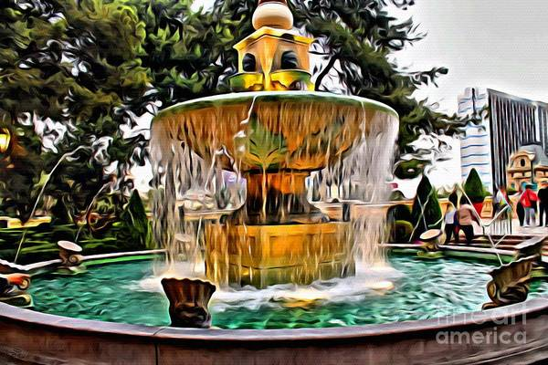 Photograph - The Fountain by Beauty For God