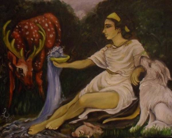 Samantha Painting - The Fountain Of Artemis by Samantha Sanders