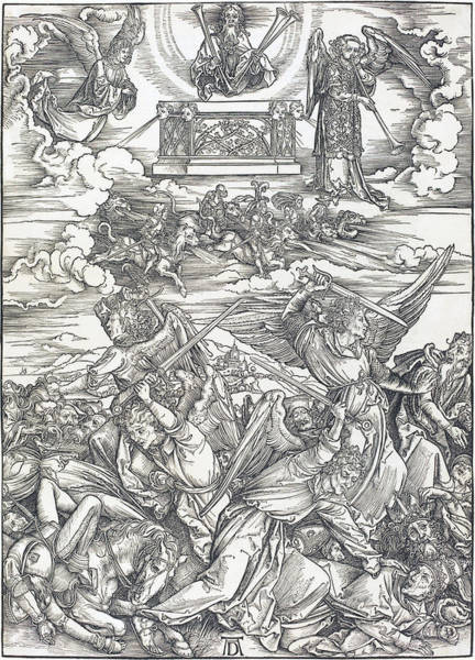 Drawing - The Four Avenging Angels by Albrecht Durer