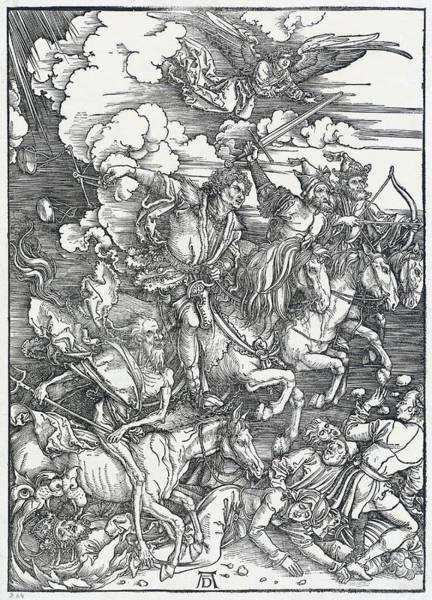 Drawing - The Four Horsemen by Albrecht Durer