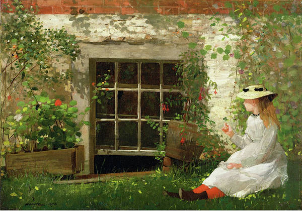 Painting - The Four Leaf Clove By Winslow Homer 1873 by Movie Poster Prints