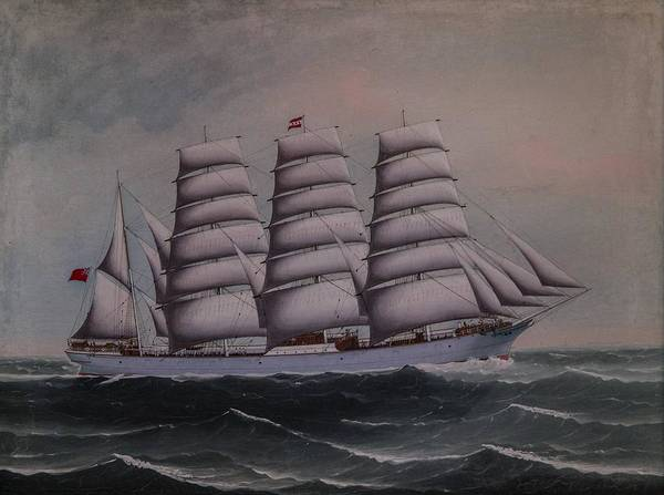 Windermere Painting - The Four Masted Steel Barque Windermere by MotionAge Designs