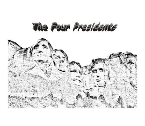 Photograph - The Four Presidents 2 by John M Bailey
