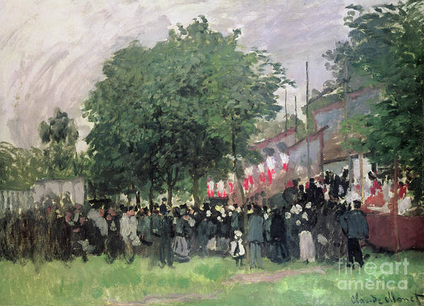 Wall Art - Painting - The Fourteenth Of July, Bastille Day by Claude Monet