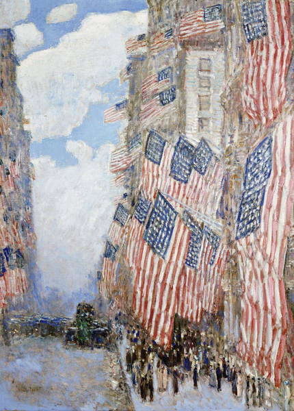 Narrow Street Painting - The Fourth Of July, 1916 by Childe Hassam