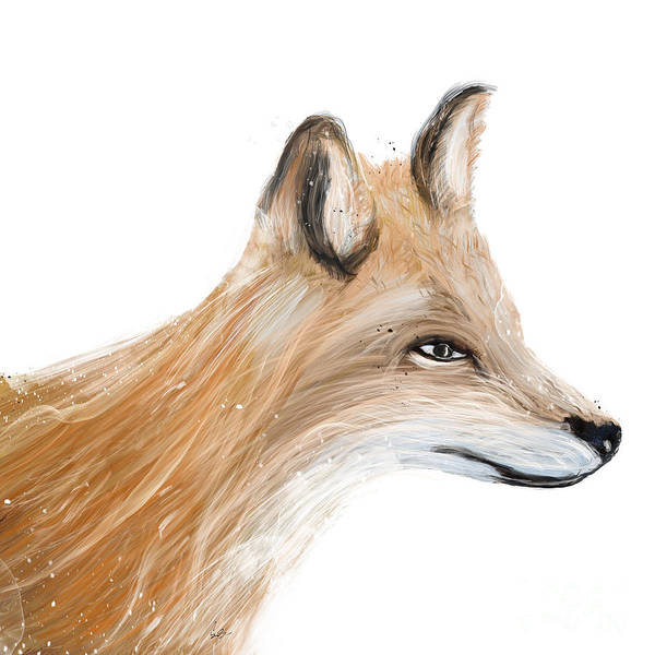 Fauna Wall Art - Painting - The Fox by Bri Buckley