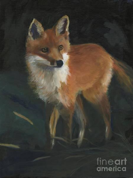 Wall Art - Painting - The Fox by Gloria Condon