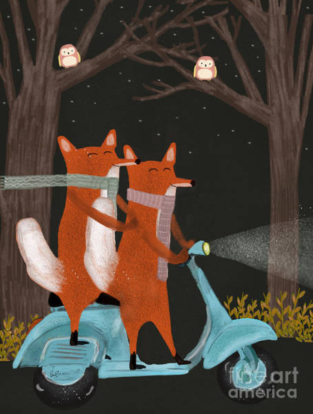 Wall Art - Painting - The Fox Mobile by Bri Buckley