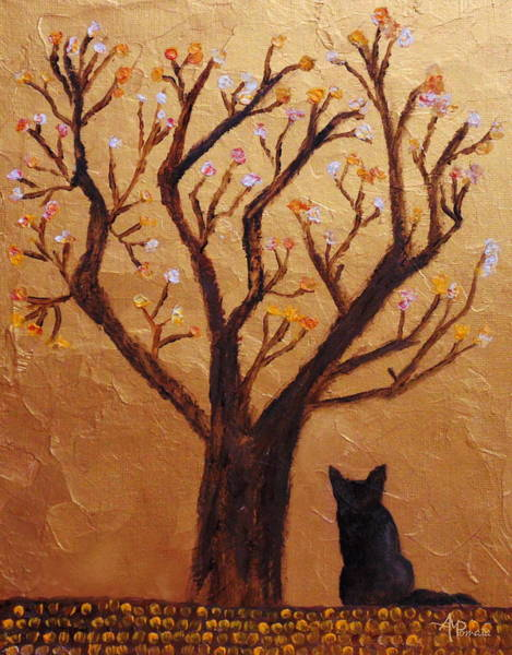 Painting - The Fox Tree by Angeles M Pomata