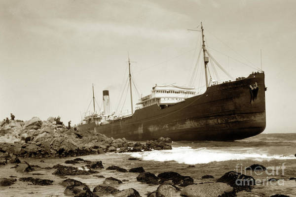 Photograph - The Frank H. Buck Was An Oil Tanker Of The Associated Oil Company And Was 427 Feet Long May 1924 by California Views Archives Mr Pat Hathaway Archives
