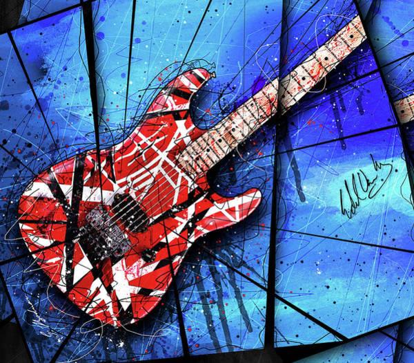 Eddie Digital Art - The Frankenstrat Vii Cropped by Gary Bodnar