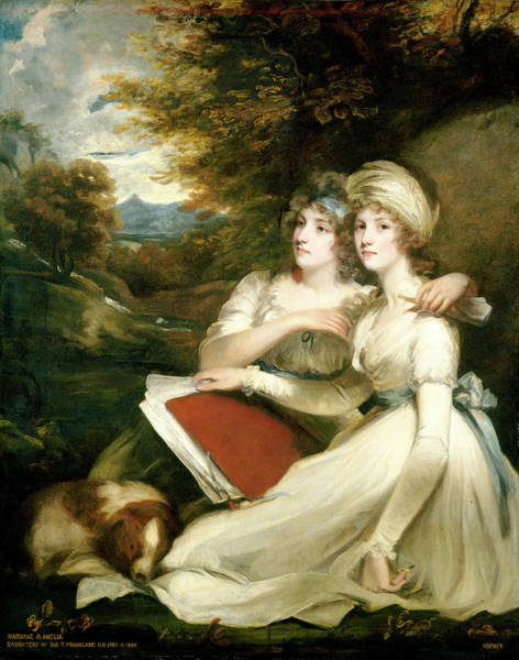 Painting - The Frankland Sisters by John Hoppner