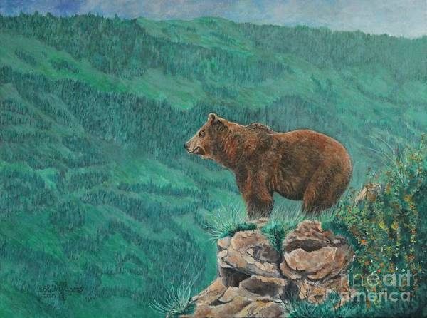 Painting - The Franklin Grizzly Bear by Bob Williams