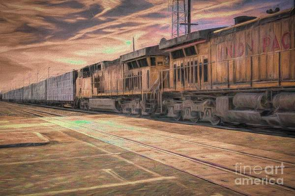 Digital Art - The Freight Train-textured by Joe Lach