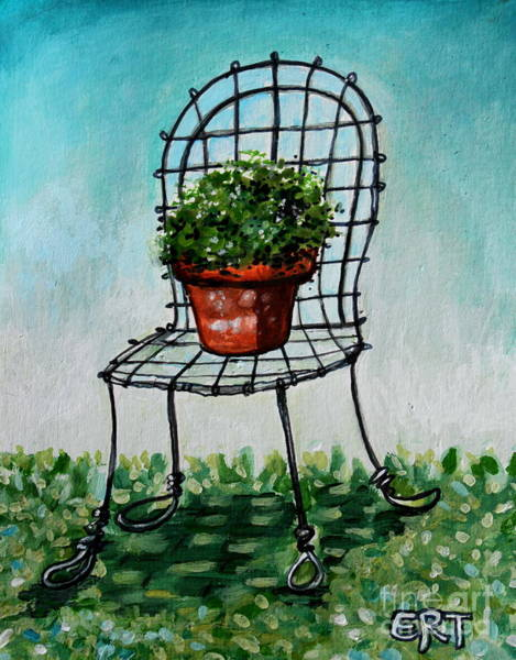 The French Garden Cafe Chair Art Print