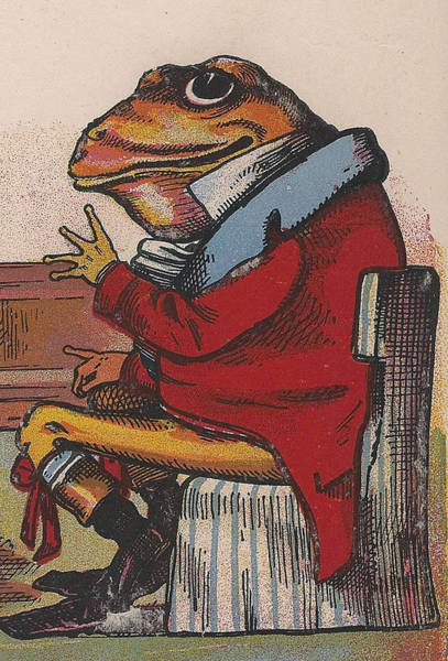 Quaint Drawing - The Frog by Aunt Louisa