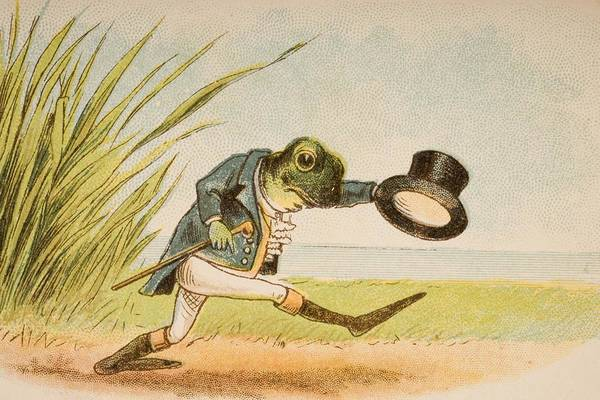 Mother Goose Drawing - The Frog Who Would A Wooing Go From Old by Vintage Design Pics
