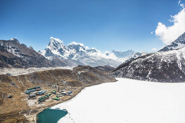 Photograph - The Frozen Lake By The Gokyo Village by Didier Marti