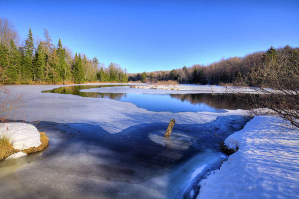 Photograph - The Frozen Moose River by David Patterson