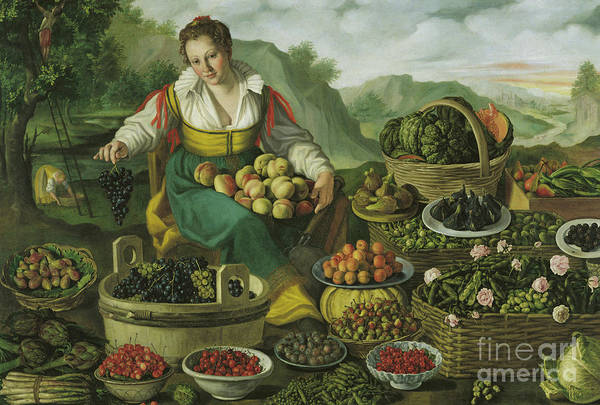 Artichoke Painting - The Fruit Seller  by Vincenzo Campi