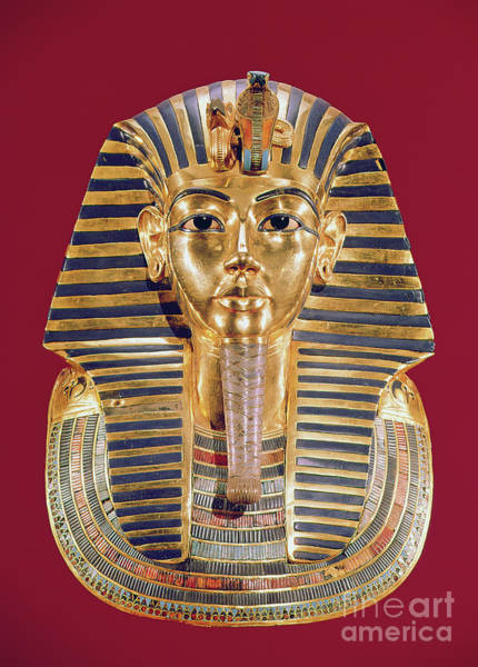 Wall Art - Photograph - The Funerary Mask Of Tutankhamun by Egyptian School