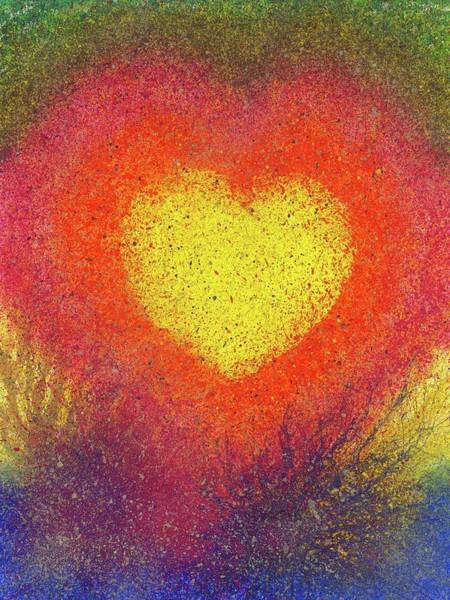 Wall Art - Painting - The Fusion Of Endless Love And Light #677 by Rainbow Artist Orlando L