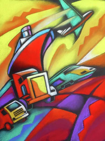 Painting - The Future Of Transportation  by Leon Zernitsky