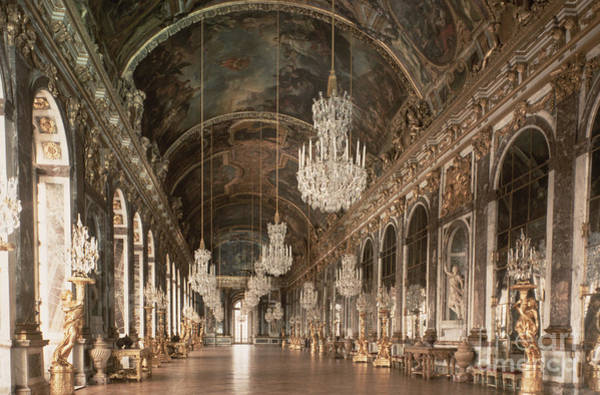 Versailles Wall Art - Photograph - The Galerie Des Glaces  Hall Of Mirrors by Jules Hardouin Mansart