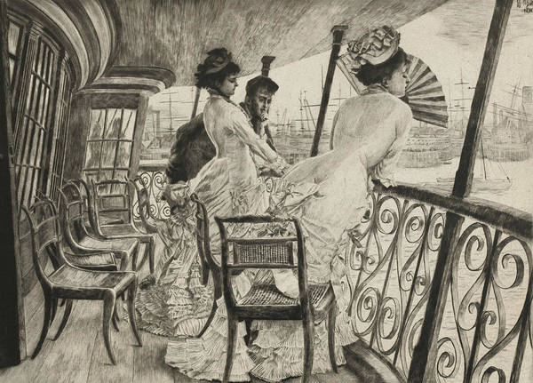 Relief - The Gallery Of H.m.s. Calcutta by James Tissot